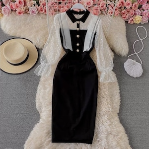 dot sleeve dress