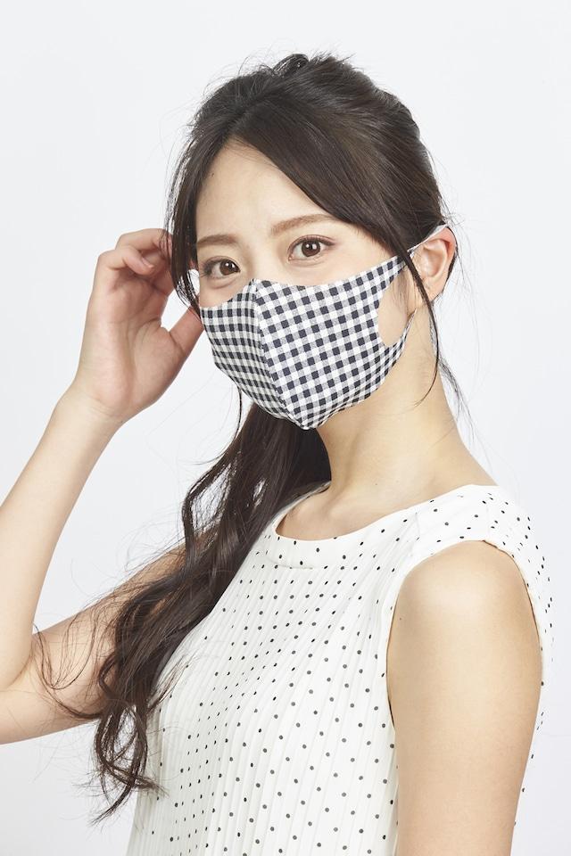 メッシュ「クール♥」柄マスク Sサイズ 2枚セット  接触冷感・UVカット・吸汗速乾  #109
