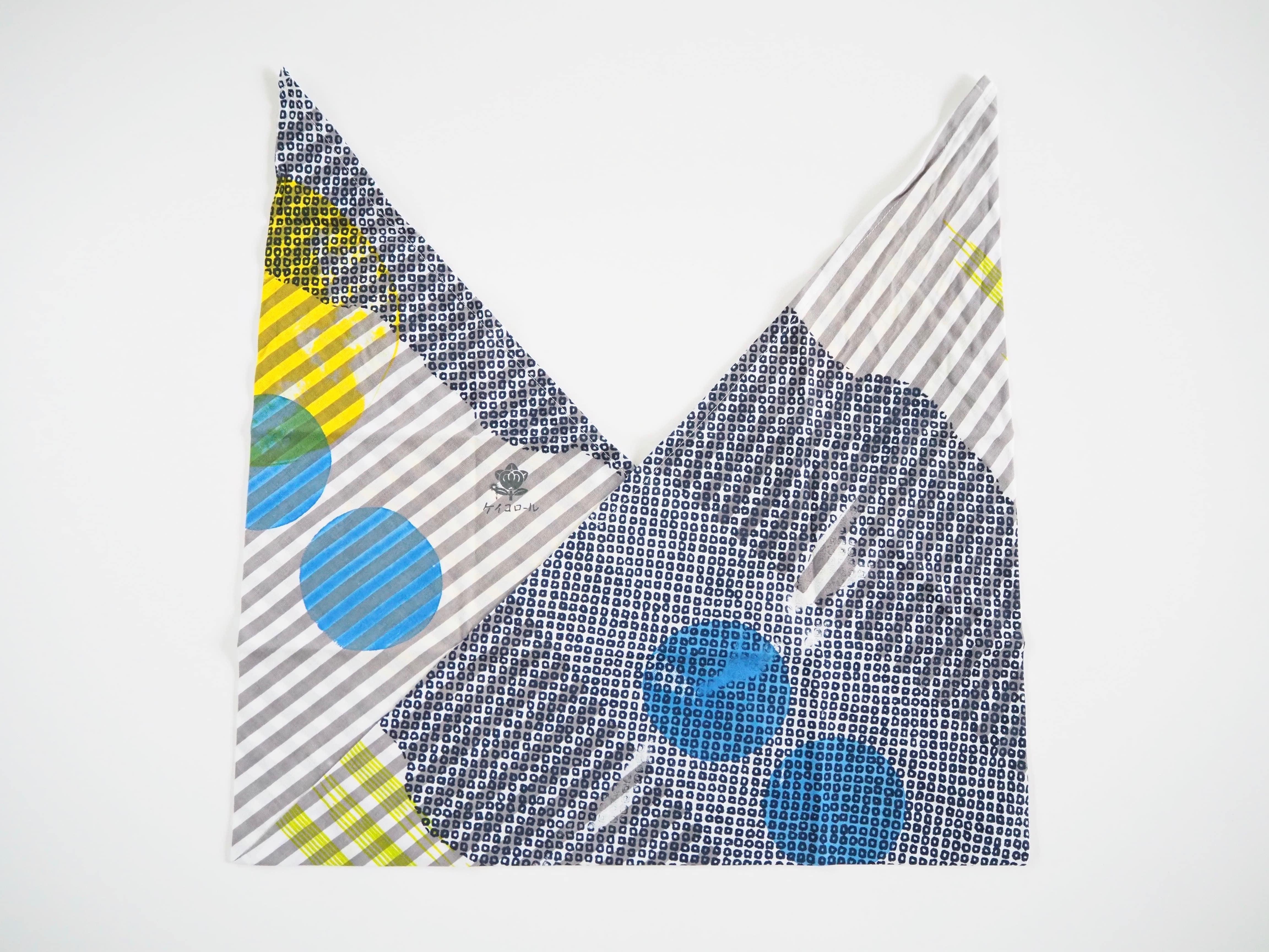 ケイコロール  あずま袋 「中太の縞と疋田と大丸と小丸とかすみ」