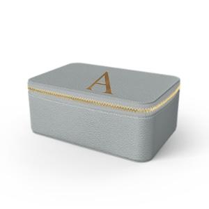 Box Premium Shrink Leather Case (Ice Grey)