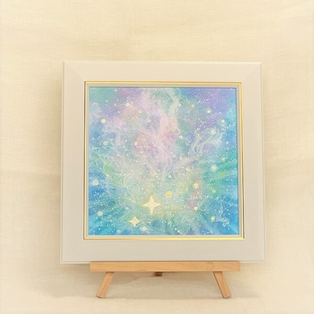 ☆ヒカリのカタチ☆20cm角サイズ オーダーメイドパステル絵画