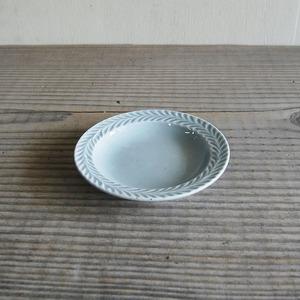 感器工房 波佐見焼 翔芳窯 ローズマリー リムプレート 皿 約10cm グレー 333096