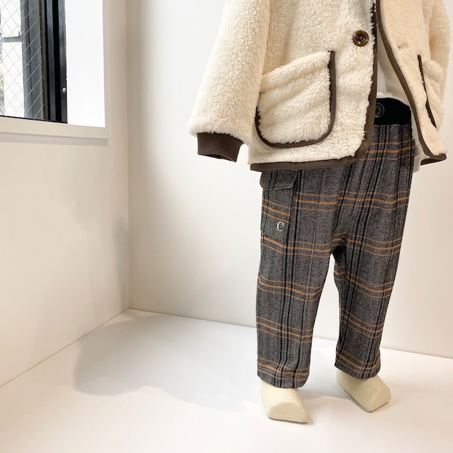 【ベビー服】サイドポケットパンツ / イエロー / 80~100サイズ