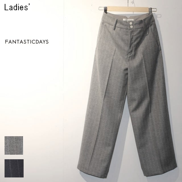 FANTASTICDAYS ウールワイドパンツ HUGE-63-02 (L.GRAY) 【Ladies'】