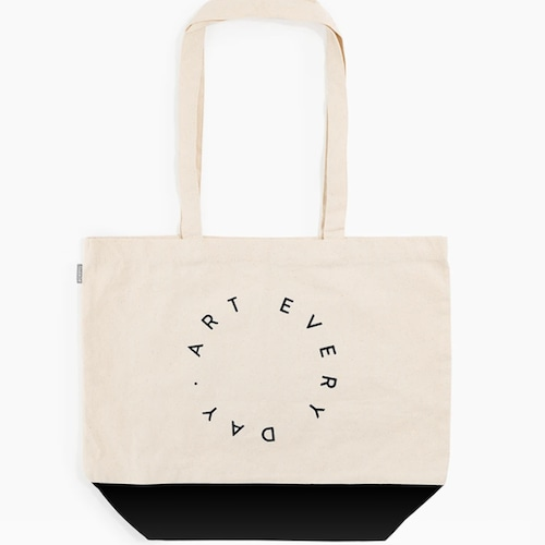 """Poketo """"Art Every Day Tote in Black"""" キャンバストートバッグ"""