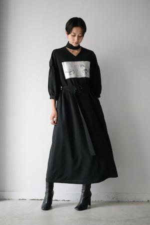MIKAGE SHIN / Horse Choker Dress (black)