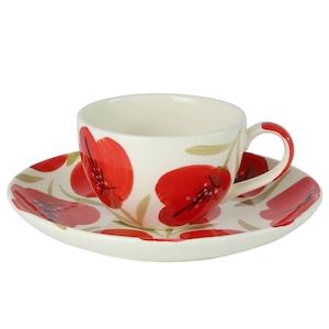 APHマルチカップ&プレート スペイン食器 アマポーラ柄デザイン ティーカップ コーヒーカップ