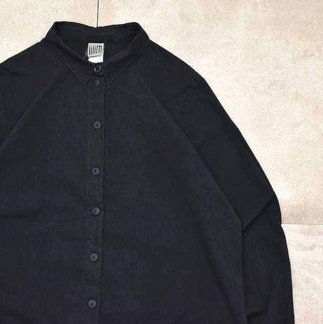 lilith black long shirt Made in France