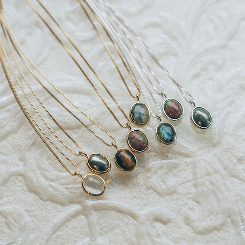 stone necklace silver925