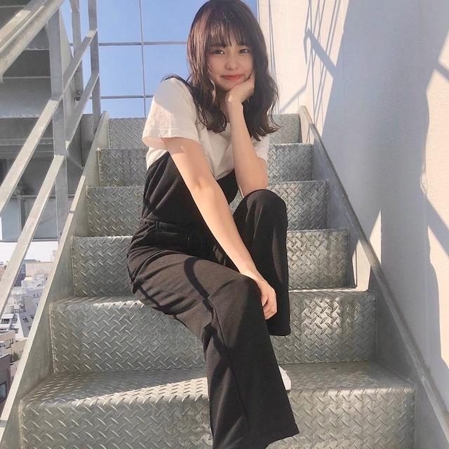 【大塚美波様着用アイテム】カジュアルオールインワン+半袖Tシャツ
