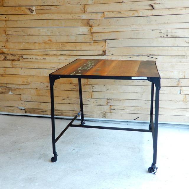 TOPANGA Furniture リサイクルウッド&アイアン スクエアテーブル