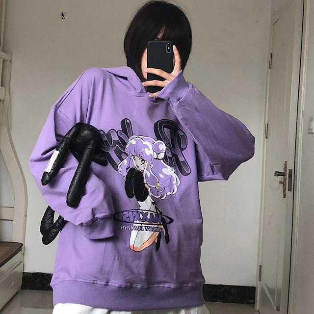 【トップス】長袖アニメ人気フード付きファッションパーカー34303249