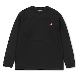 【Carhartt WIP】 L/S AMERICAN SCRIPT T-SHIRT - Black カーハート 長袖 Tシャツ