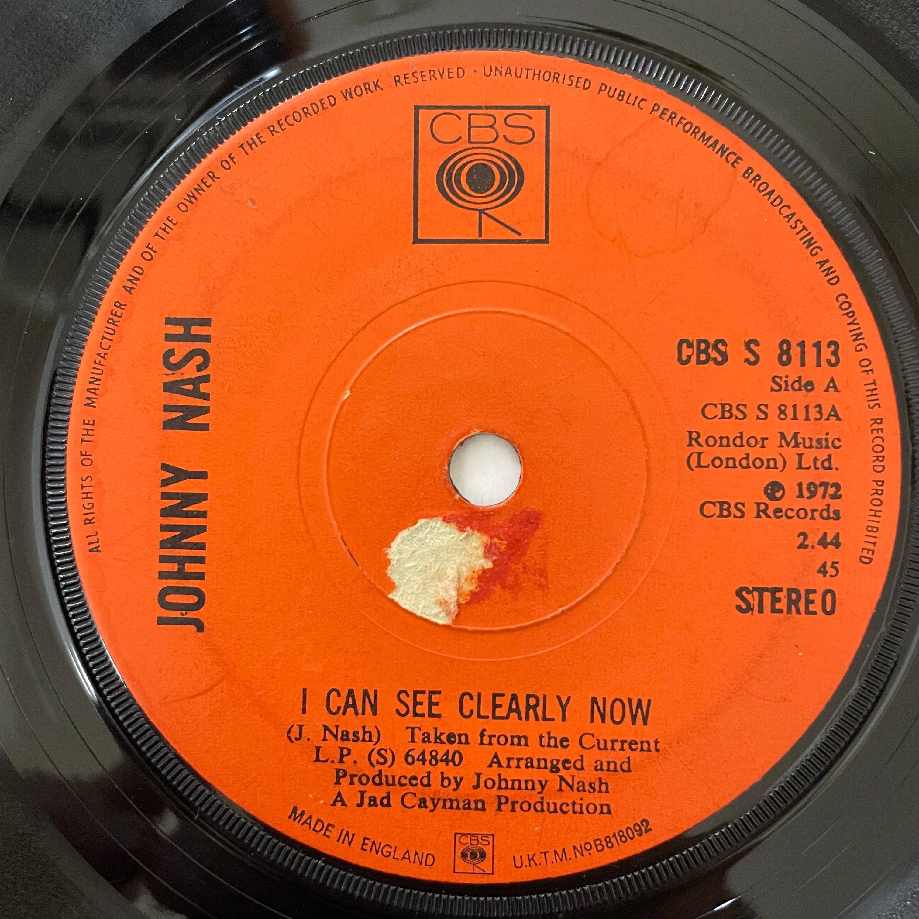 Johnny Nash - I Can See Clearly Now【7-20717】