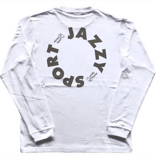 """JS """"Circle"""" ロゴ ロングスリーブ Tシャツ/ホワイト"""