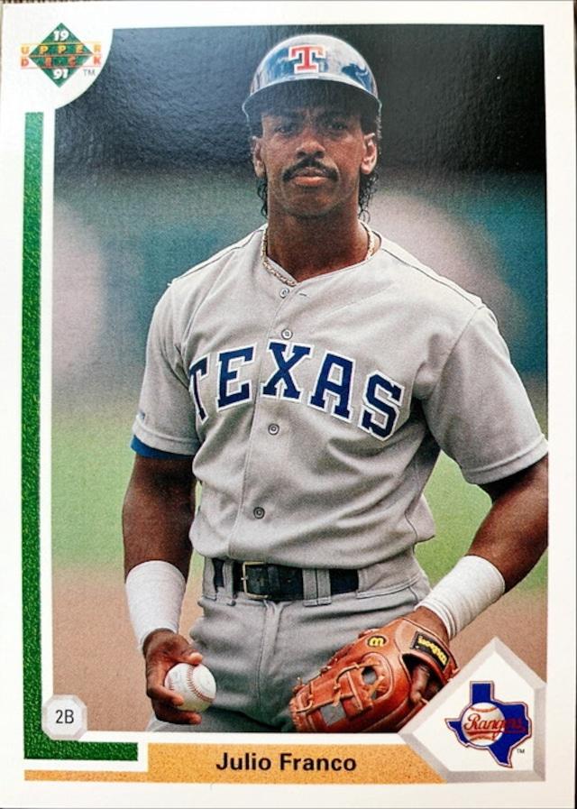 MLBカード 91UPPERDECK Julio Franco #227 RANGERS