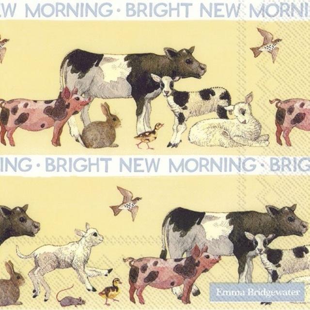 【Emma Bridgewater】バラ売り2枚 ランチサイズ ペーパーナプキン BRIGHT NEW MORNING クリーム