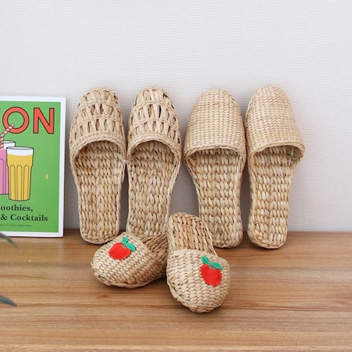 natural rattan room shoes 3types / ラタン スリッパ