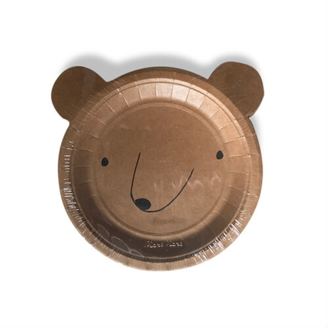 merimeri メリメリ - paper plate / ペーパープレート ( BEAR ) 12枚入り