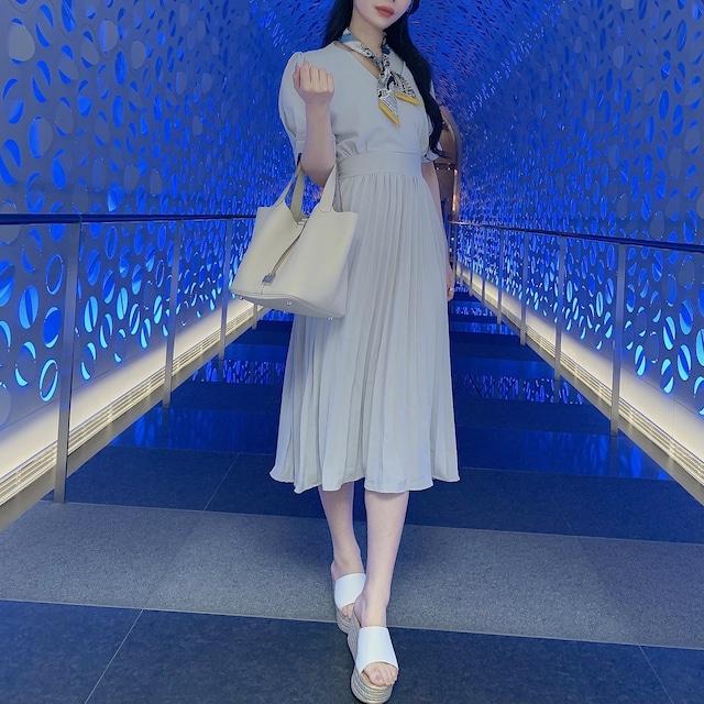 ❤︎ pleats rétro lady dress 2color