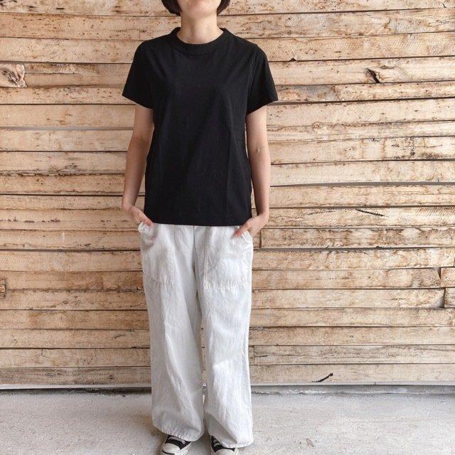homspun (ホームスパン) 天竺半袖Tシャツ ブラック