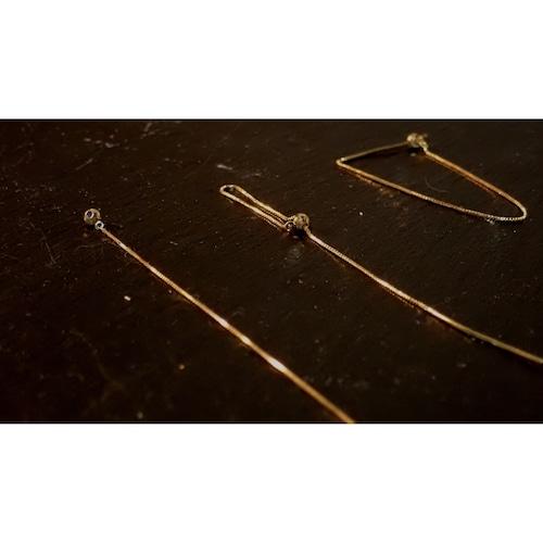 zip K10 Yellow Gold four-way Chain Earrings