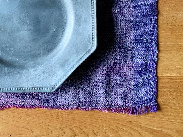 手織りランチョンマット「Purple Mix」