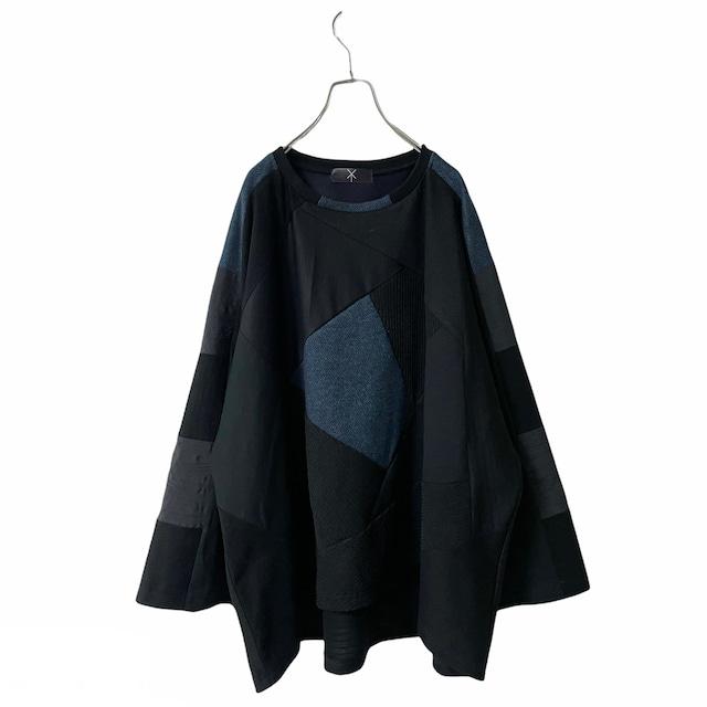 Wide-T-shirts1.1 (black/blue)
