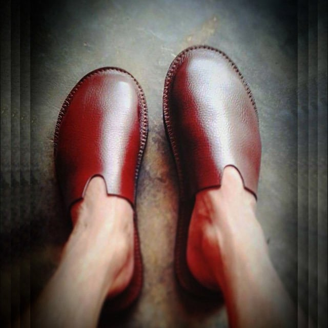 leather room shoes