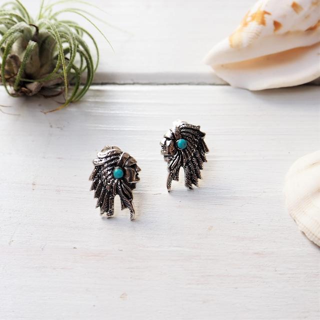 Native American Pierced Earrings《SILVER925》11381165