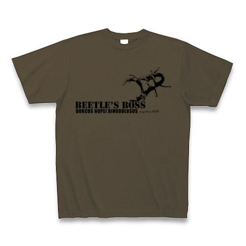 国産オオクワガタ Tシャツ -maylime- オリジナルデザイン オリーブ