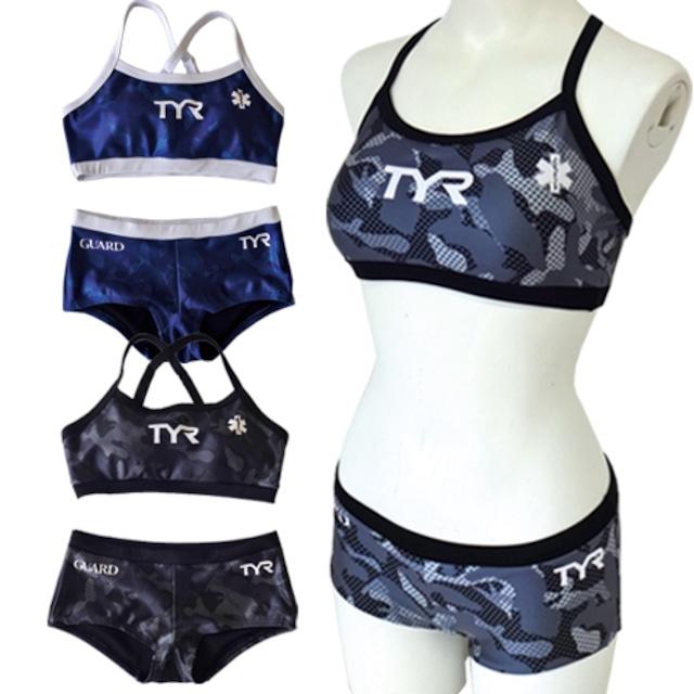 TYR×GUARD レディース水着 カモフラ ワークアウト ビキニ セパレート タンキニ フィットネス wgad1-17m 競泳 ブランド