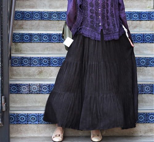 USA VINTAGE SUEDE LONG SKIRT/アメリカ古着スエードロングスカート