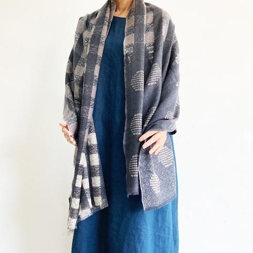 エピス ウールストール デンマークの伝統衣装の織柄
