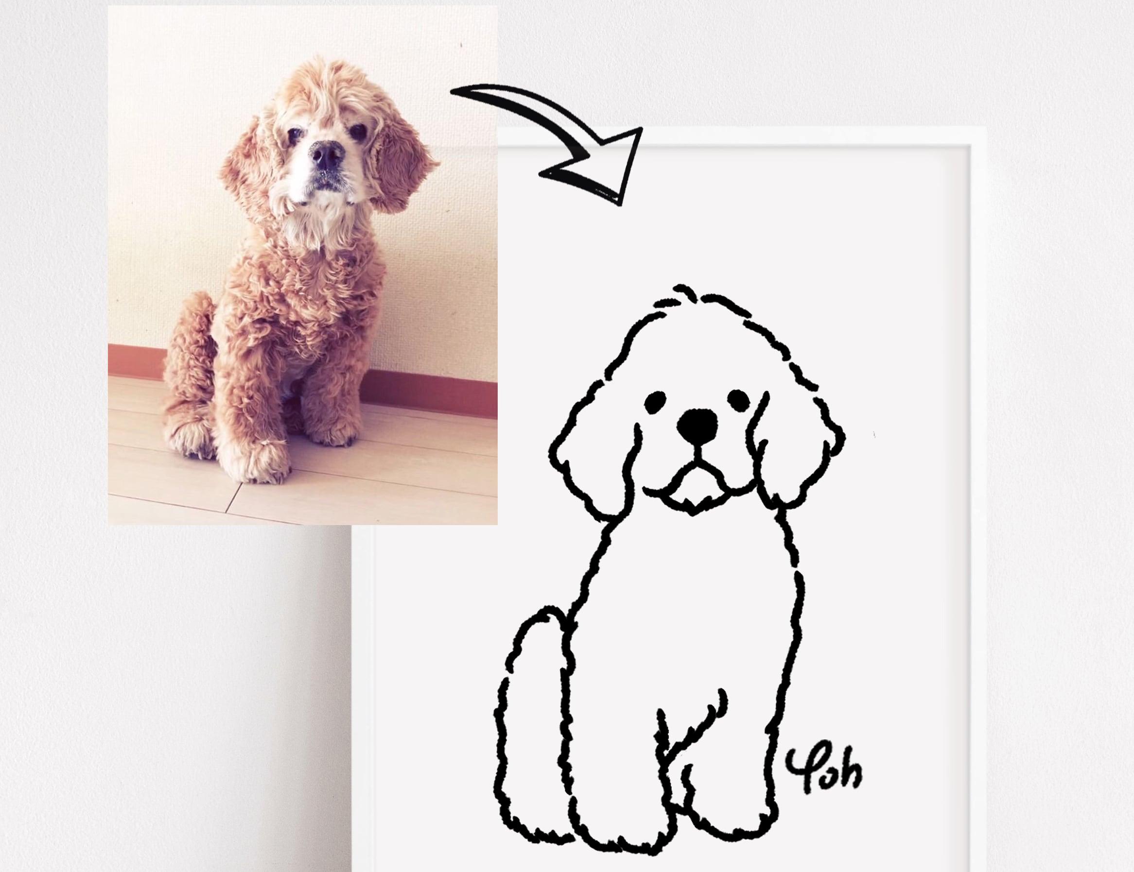 似顔絵イラスト ペット 犬 ねこ似顔絵【Yoh】