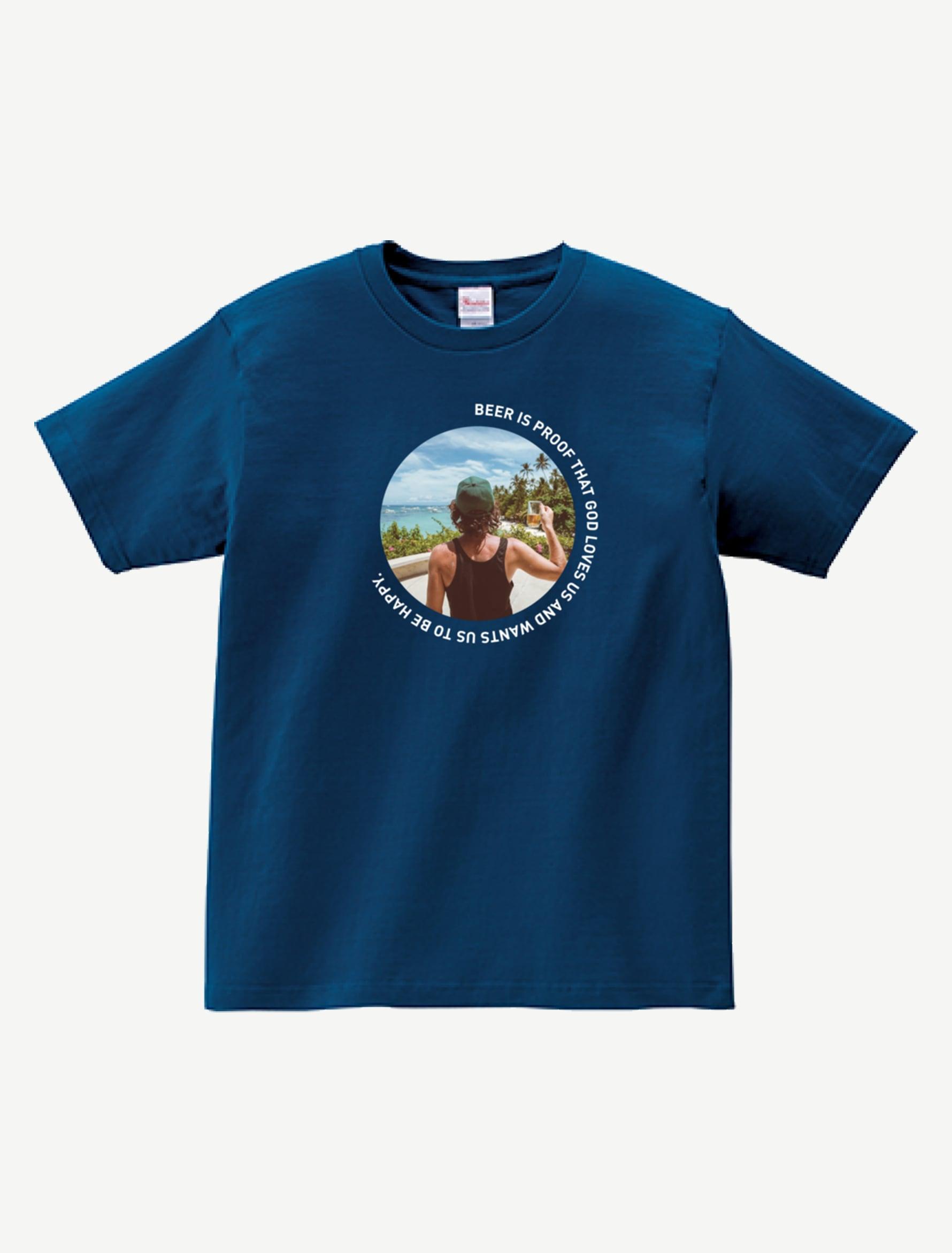 BEER IS PROOF Tシャツ BP0007NAV