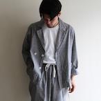H.UNIT【 mens 】cotton linen check easy jacket