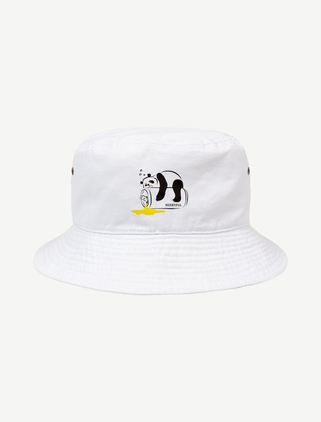【ほろ酔いパンダ】バケットハット(ホワイト)