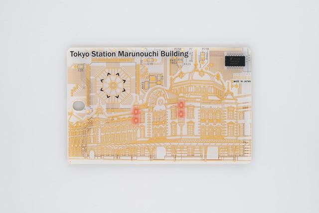 FLASH 東京駅丸の内駅舎 ICカードケース  白【名入れ無料サービス実施中】