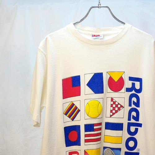 【USED】80's Reebok プリント Tシャツ