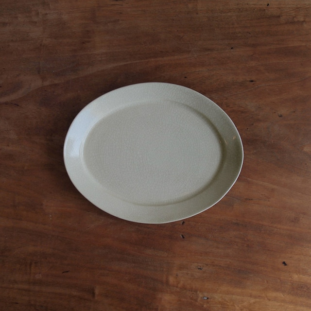 石黒剛一郎 楕円皿(白)