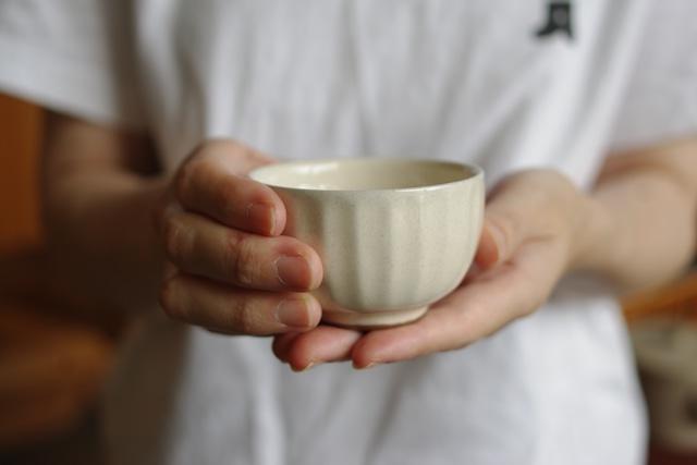 湯呑 ソギ 碗 粉引き