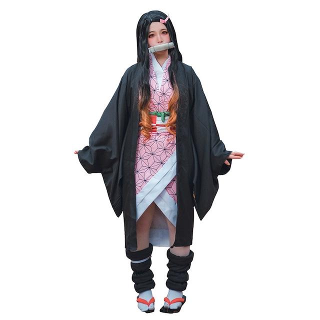 コスプレ 竈門 禰豆子 (かまど ねずこ) き め つ や い ば コスチューム 衣装 なりきり 制服 着物 ハロウィン パーティー