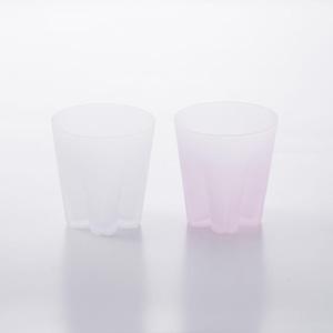 SAKURASAKU glass (サクラサクグラス) Frost Rock(ロック)【雪桜・ピンク】単品 木箱入り