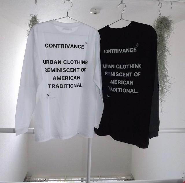 Letter logo  Long-tee  [WHITE, BLACK]  unisex  春夏新作 ロンT, Tシャツ,送料無料