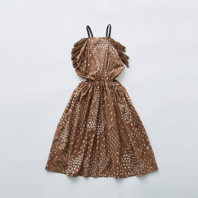 Last one 110!eLfinFolk QiLin pinafore dress (brown) 110 130  elf-211F09
