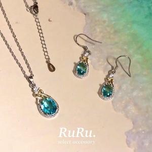 drop heart necklace / pierce