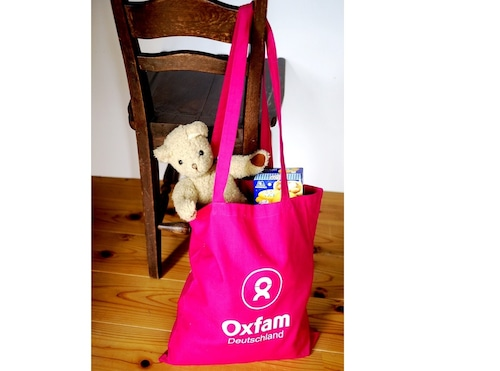 OXFAM Deutschland ドイツ  エコバッグ ピンク お買い物バッグ ショッパー