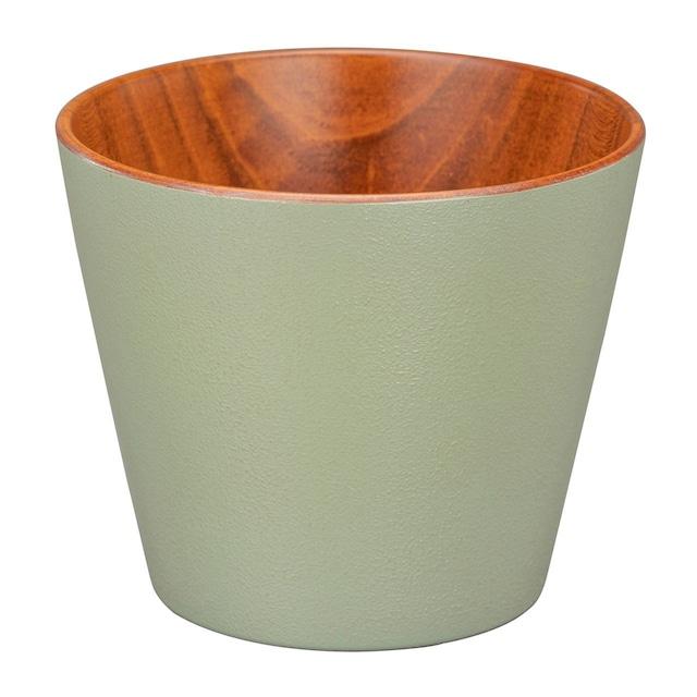 山中漆器 白鷺木工 そば猪口 約8cm sibo さくら 茶×グリーン  381076
