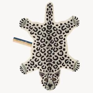 Snowy Leopard Rug